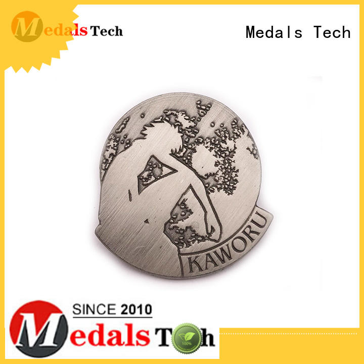 Medals Tech round custom lapel pins inquire now for adults