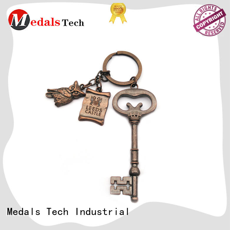Medals Tech quality leather keychain from China for promotion