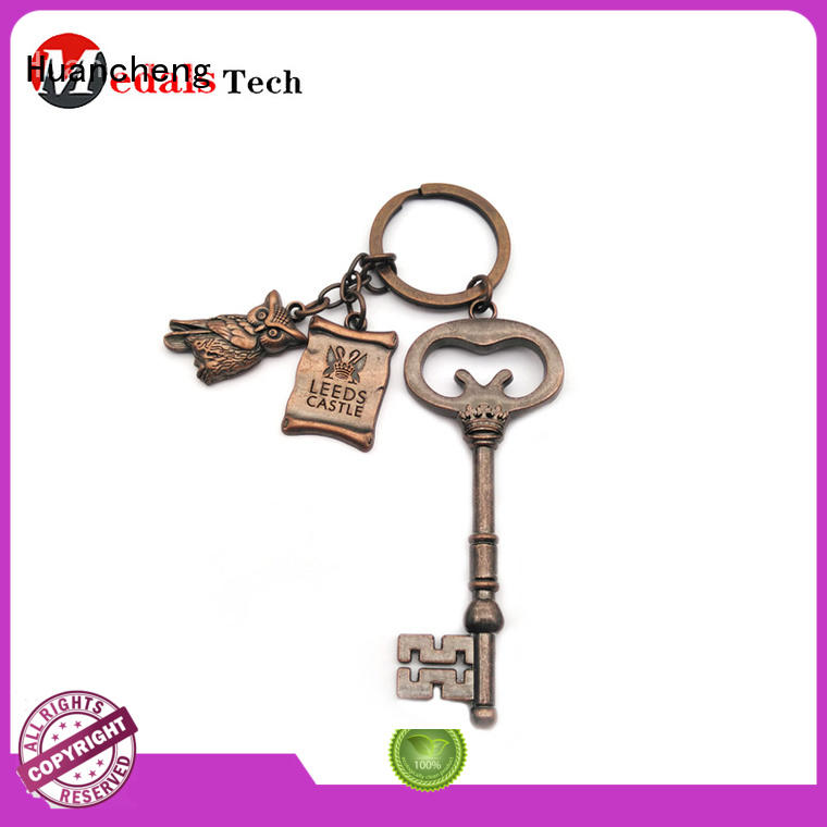 Huancheng Brand antique christmas gifts shape custom home keychain