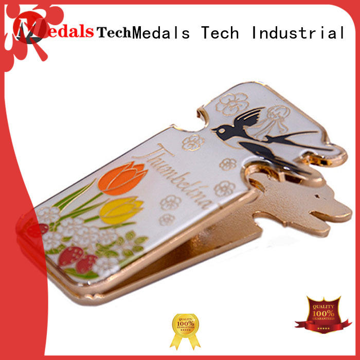 Medals Tech silver wire money clip factory for man