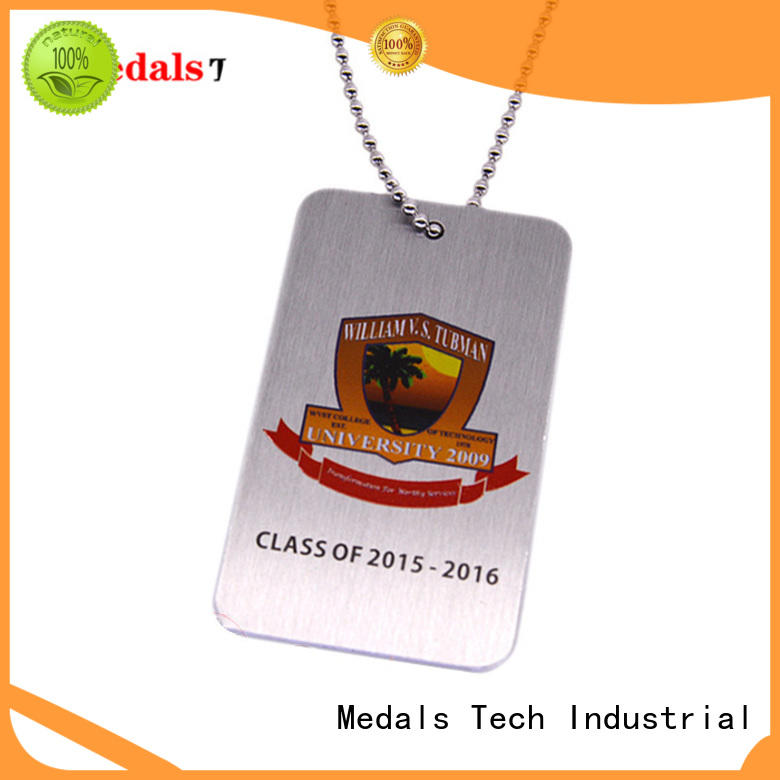 Medals Tech plating engraving on dog tags from China for boys