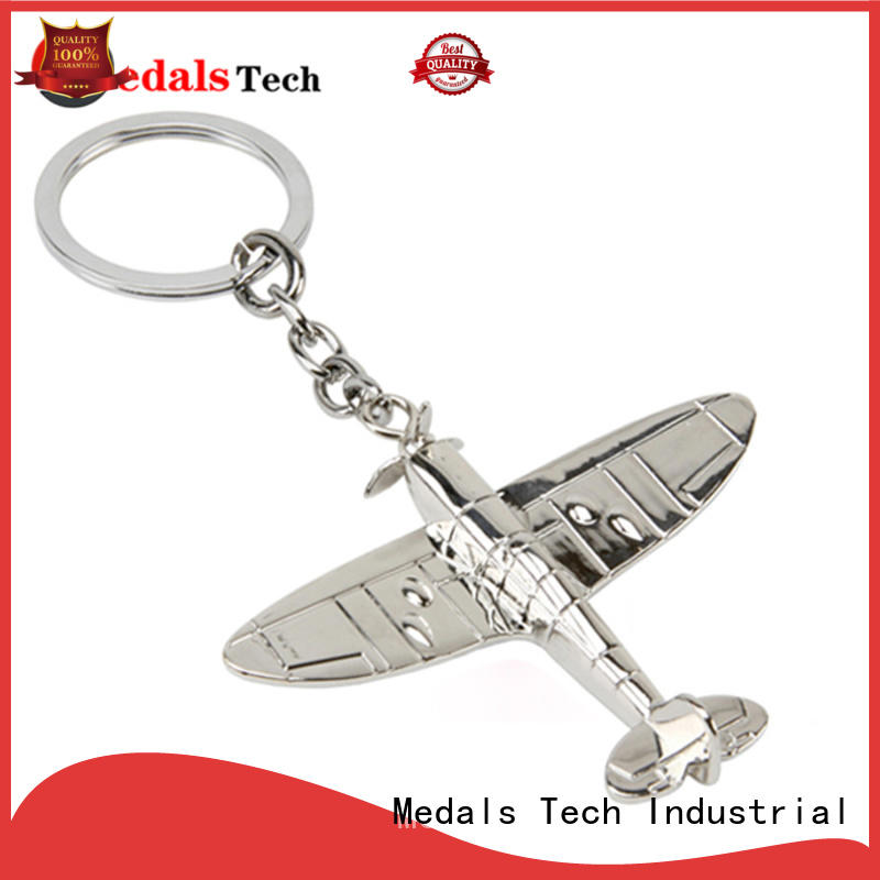 gold cheap metal keychains directly sale for man Medals Tech