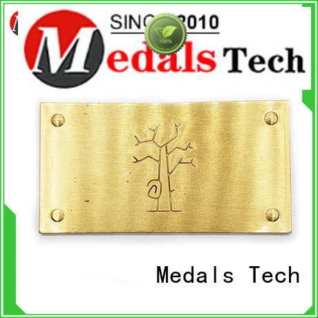 Medals Tech steel name plates factory for man