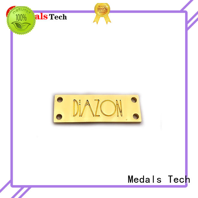 Medals Tech casting silver name plate design for man