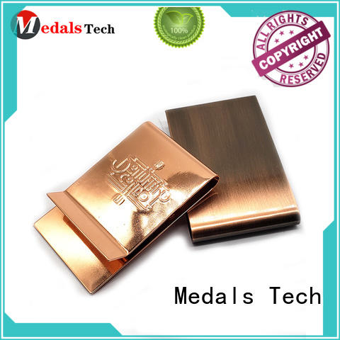 Medals Tech smooth sterling silver money clip with good price for adults