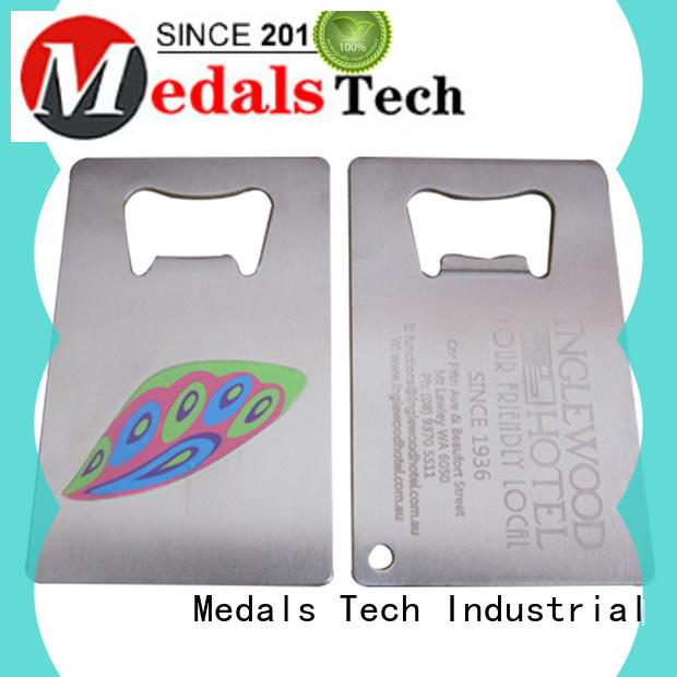 Medals Tech round customized bottle opener customized for commercial