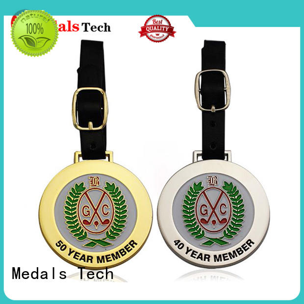 Medals Tech popular golf bag name tags customized for woman