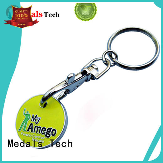 Medals Tech promotion metal keychains from China for souvenir