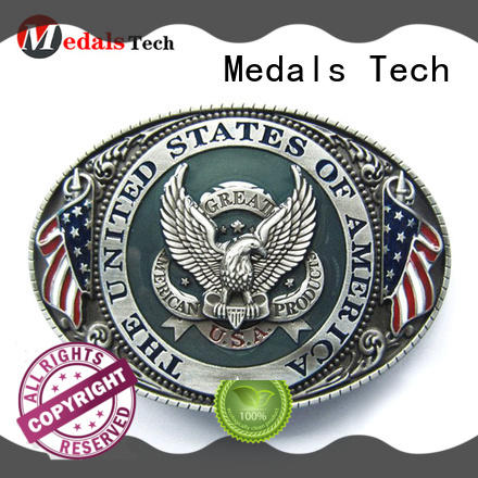 Medals Tech plated gold buckle belt factory price for teen