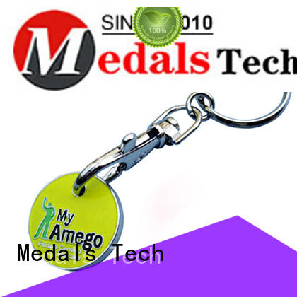 Medals Tech spinning keychain supplies series for add on sale