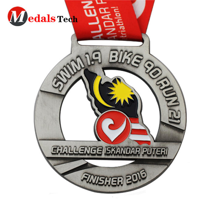 Professional manufacturer zinc alloy Malaysia map gulf coast triathlon medals