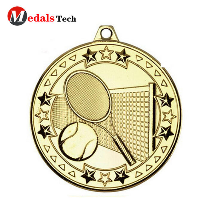 High quality factory price custom 3d gold plated badminton game logo souvenir awarding medal