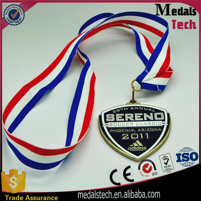 Custom professional antique bronze sports meeting metal gold silver bronze medal for runners