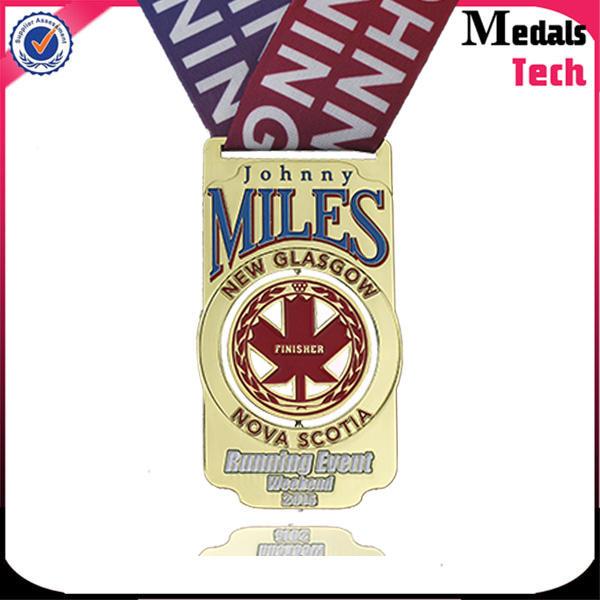 Wholesale antique pewter copper soft enamel triathlon spinning medal for souvenir