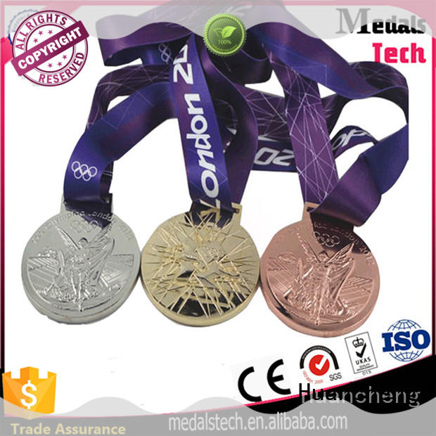 Huancheng Brand popular metal medal ribbon factory