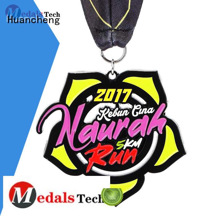 different types of medals matte Huancheng Brand metal medal