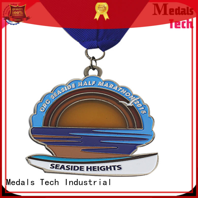 Medals Tech lanyard silver medal wholesale for adults