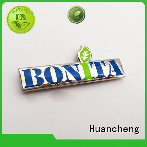 copper custom name plates metal logo Huancheng company