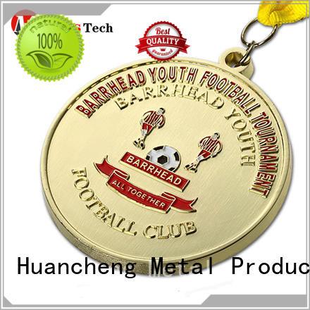 gold Bright Gold ribbon metal medal Huancheng