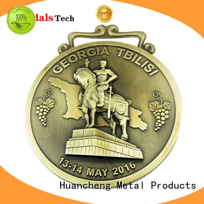 Huancheng Brand marathon ribbon custom different types of medals