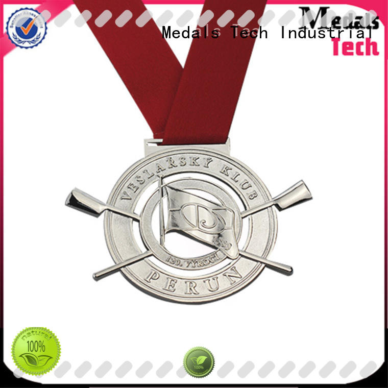 Medals Tech ribbon silver medal supplier for commercial