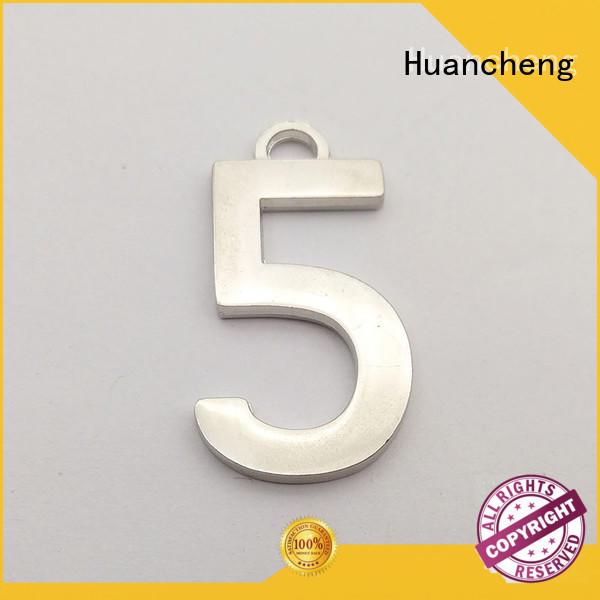 Huancheng Brand logo metal Silver custom aluminium nameplate