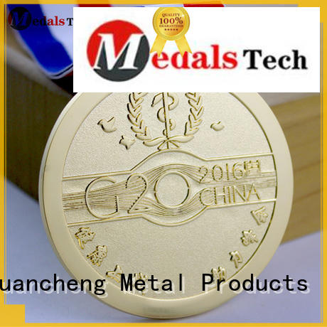 Huancheng Brand Bright Gold ribbon marathon custom different types of medals
