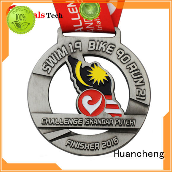 different types of medals sport ribbon metal medal Huancheng Brand